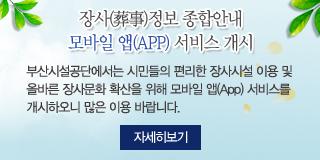 장사정보 종합안내 모바일 앱(APP) 서비스 개시 자세히보기